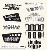 Retro Limited Edition Labels and Stickers. Collection of vintage style limited edition labels and badges Stock Photo