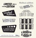 Retro Limitowane Etykietki Wydanie Majchery i Zdjęcie Stock