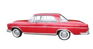 Retro limousine rosse Fotografia Stock Libera da Diritti