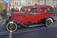 Retro limousine on street Royalty Free Stock Photos
