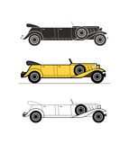 Retro limuzyna kabrioletu samochód, rocznik kolekcja Obraz Royalty Free