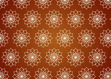 Retro Line Art and Flower Pattern on Pastel Color Royalty Free Stock Photo