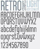 Retro line stripes effect font. Royalty Free Stock Images