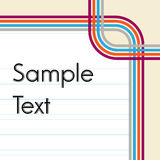 Retro line styled background with empty page lines Stock Photo