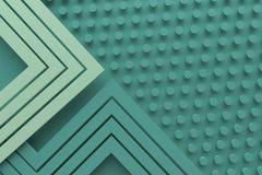 Retro linea verde d'annata del fondo del modello di colore dell'alzavola e punto 3 Fotografie Stock Libere da Diritti
