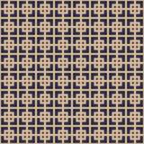 Retro- Lineart-Muster Nahtloser Entwurfshintergrund des Vektors Stockfotografie
