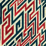 Retro lines seamless pattern with grunge effect Royalty Free Stock Photography