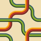 Retro linii Bezszwowy wzór Obraz Stock