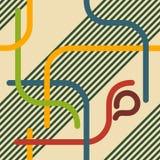 Retro linii Bezszwowy wzór Fotografia Stock