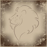 Retro lion Royalty Free Stock Photography