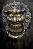 Retro Lion Head Door Ring royalty free stock photos