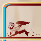 Retro Lion Of Saint Mark Stock Image