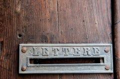 Retro listowy pudełko Fotografia Stock
