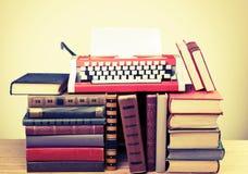 Retro litteratur Arkivbild
