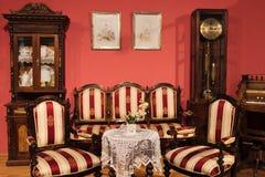 Retro interior. Retro living room interior, Russia Stock Images