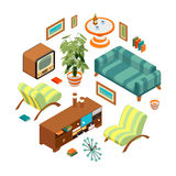 Retro living room Stock Image