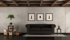 Retro living room Stock Image