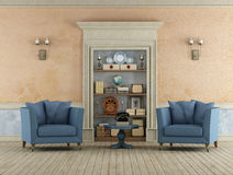 Retro living room Royalty Free Stock Images