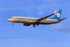 Retro- Livree KLMs 737 Stockfotografie
