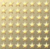 Retro ljus guld- bakgrund för stjärnor vektor illustrationer