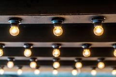 Retro ljus lampa Arkivbild