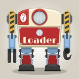 Retro robot. Retro loader robot. This is file of EPS8 format Stock Photo