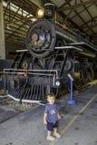 Retro locomotiva Fotografie Stock Libere da Diritti