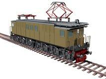 Retro locomotiva del treno Fotografie Stock Libere da Diritti
