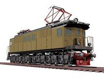 Retro locomotiva del treno Fotografia Stock Libera da Diritti