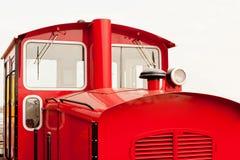 Retro locomotiva rossa di stile Fotografie Stock