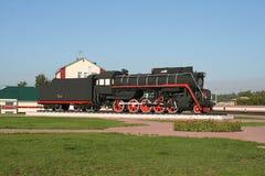 Retro locomotiva a vapore Fotografia Stock Libera da Diritti