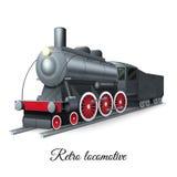 Retro Locomotive Illustration Stock Photos