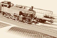 Retro locomotive model Stock Photo