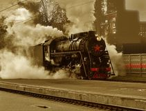 Retro - locomotive Royalty Free Stock Photography