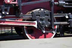Retro locomotive wheels Stock Images