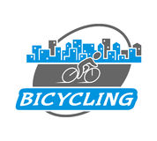 Retro  logo for bicycling. Royalty Free Stock Photo