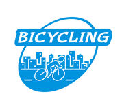 Retro  logo for bicycling. Royalty Free Stock Images