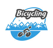 Retro  logo for bicycling. Stock Image