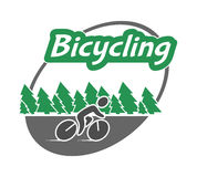Retro  logo for bicycling. Royalty Free Stock Photos
