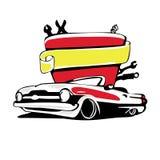 Retro logo dell'automobile Immagine Stock