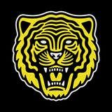 Retro- Logo des Tigers stock abbildung