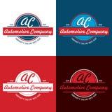 Retro logo di Automotive Company - illustrazione di vettore Illustrazione di Stock