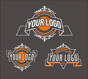 Retro logo för tappning stock illustrationer