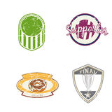 Retro logo. Set of different retro logos with grunge effect Royalty Free Stock Photo