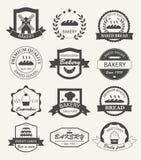 Retro logos, distintivi ed etichette del forno Immagini Stock
