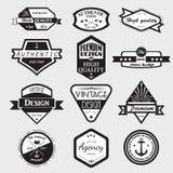 Retro Logotypes d'annata messi Fotografia Stock Libera da Diritti