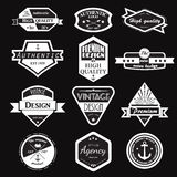 Retro Logotypes d'annata messi Fotografie Stock Libere da Diritti