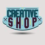 Retro logotypes delle insegne di progettazione di colore assortito Immagini Stock Libere da Diritti