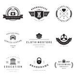 Retro Logotypes vector set Stock Photos