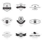Retro Logotypes vector set Stock Images